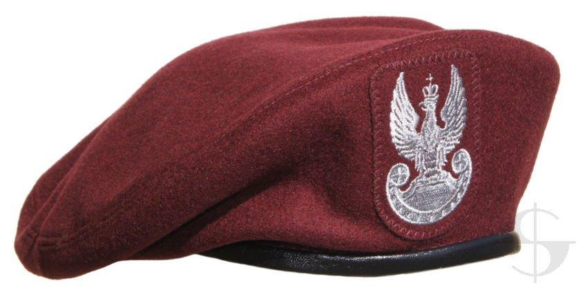 beret wojskowy bordowy