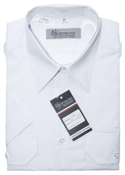 Koszula Policji biała z krótkim rękawem. Różne rozmiary  F7mZL